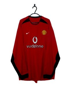 51065561b 2002-04 Manchester United Home Shirt L S