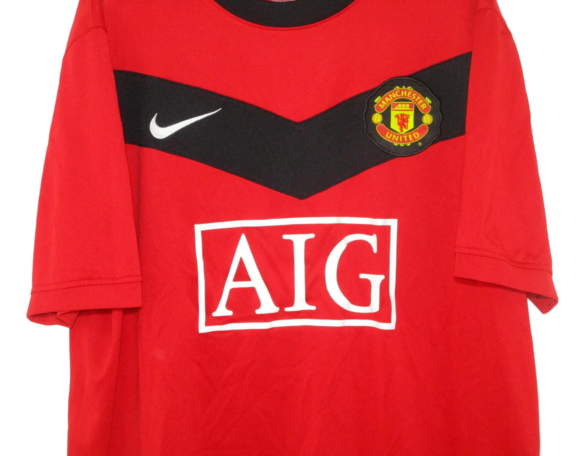 2009-10 Manchester United Home Shirt (XL)   The Kitman Football Shirts
