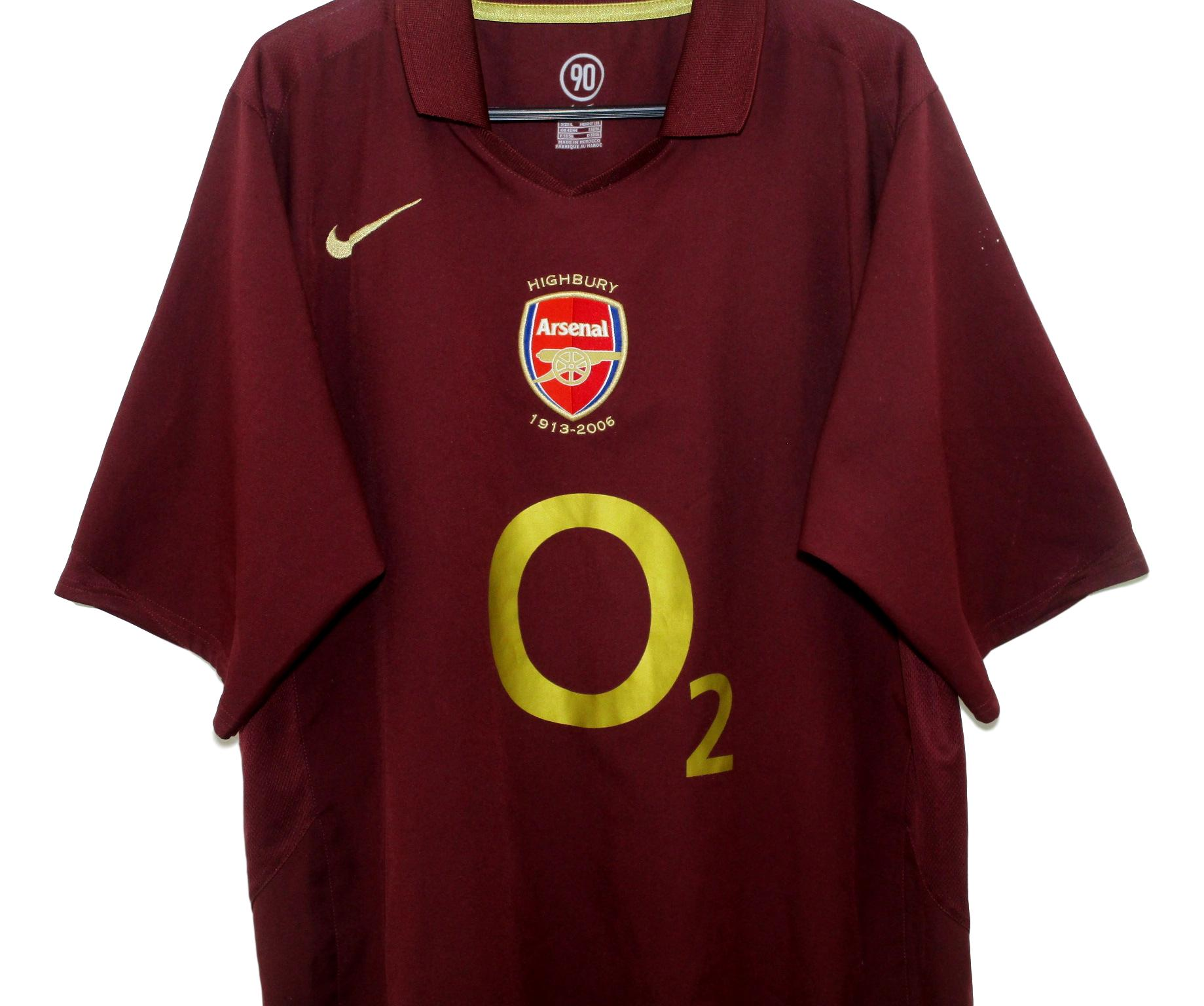 best website 99be6 c4516 2005-06 Arsenal Home Shirt (L) | The Kitman Football Shirts