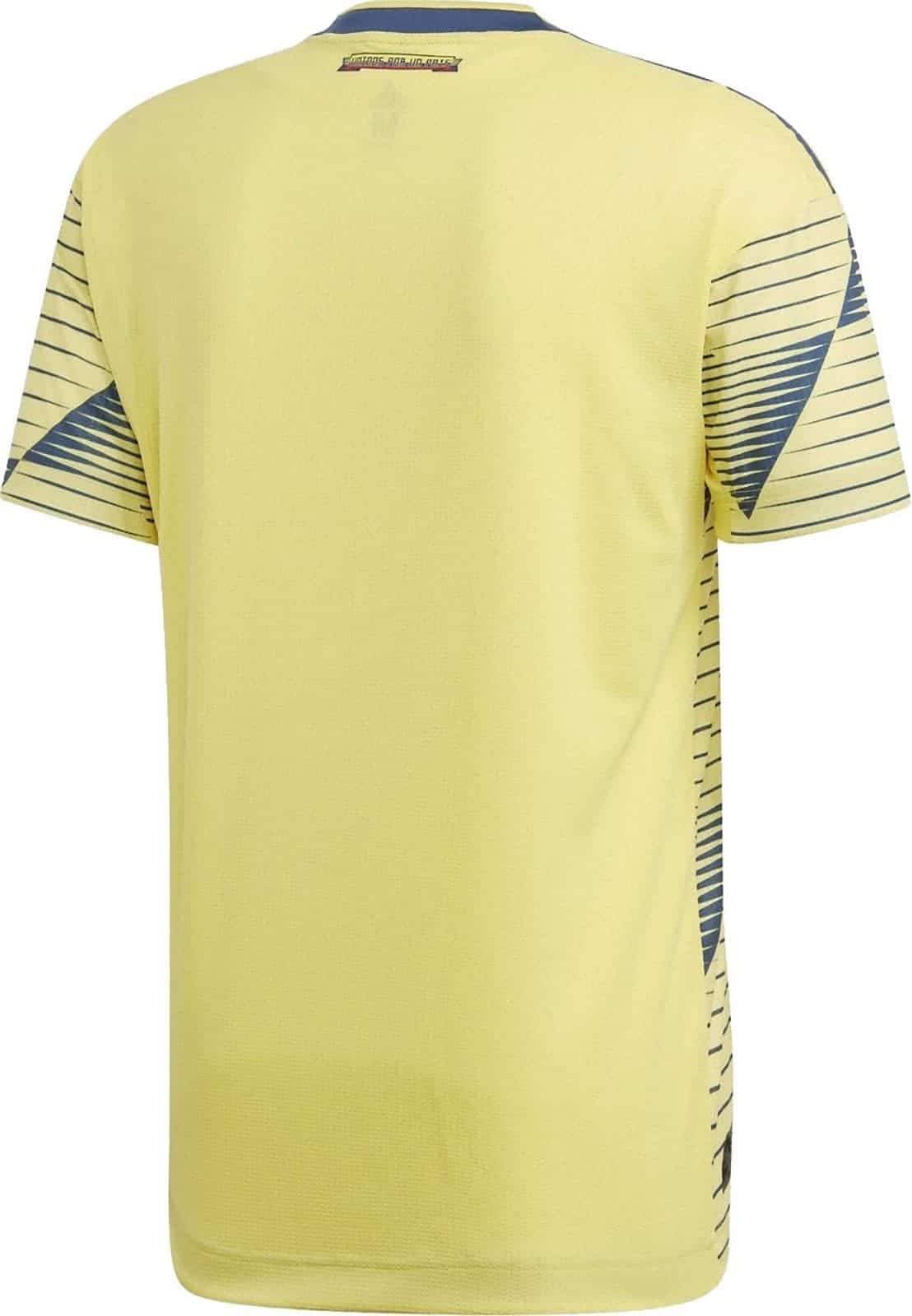 81340be34 Unlike the front of the football shirt the back is plain all the sleeves  still feature the blue graphic. Colombia 2019 Copa America ...