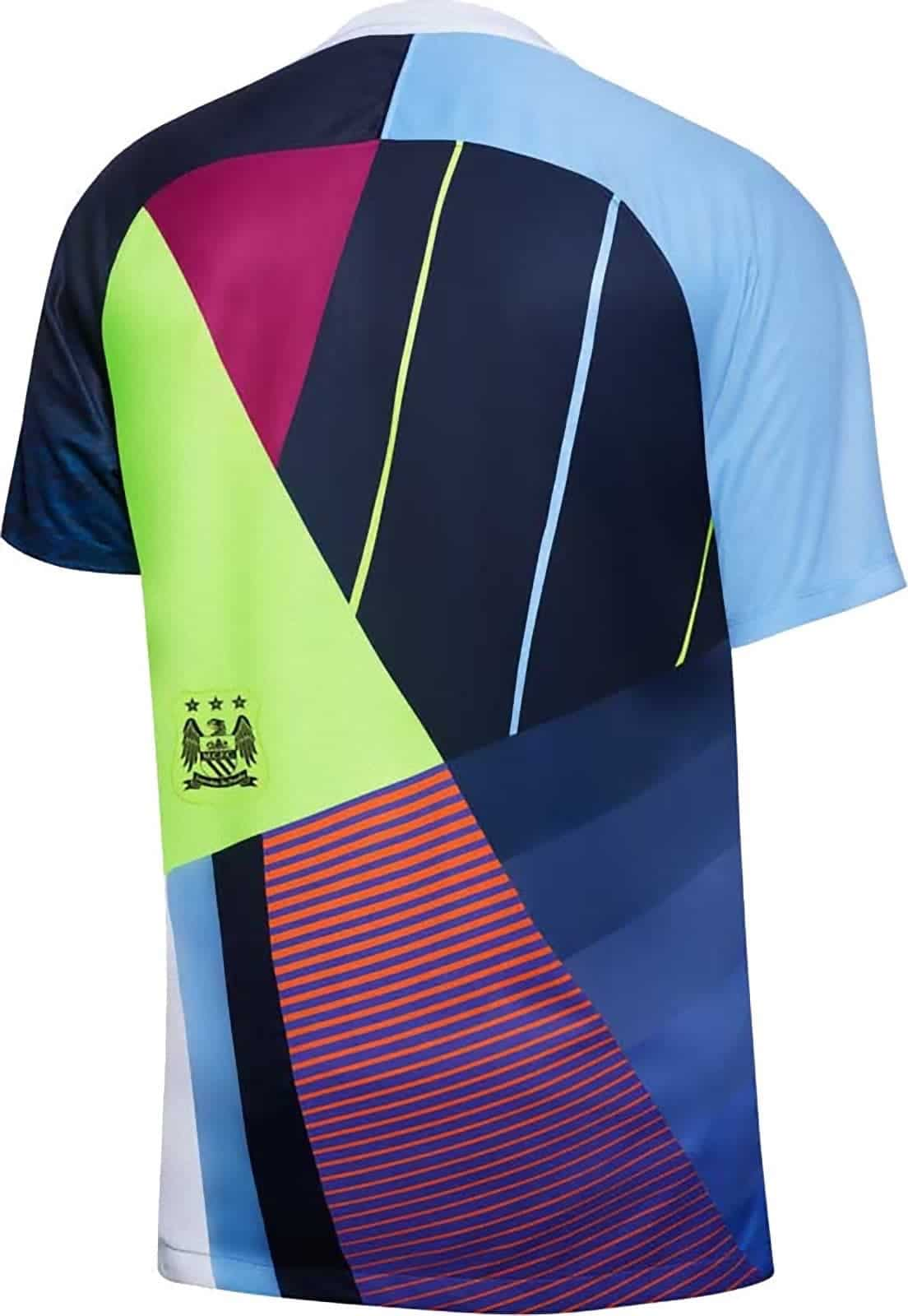 ea3cb830bf2 The Manchester City Celebration Mashup Shirt 2019 will be worn this weekend  pre match against Fulham and for the remaining fixtures as the players warm  up ...