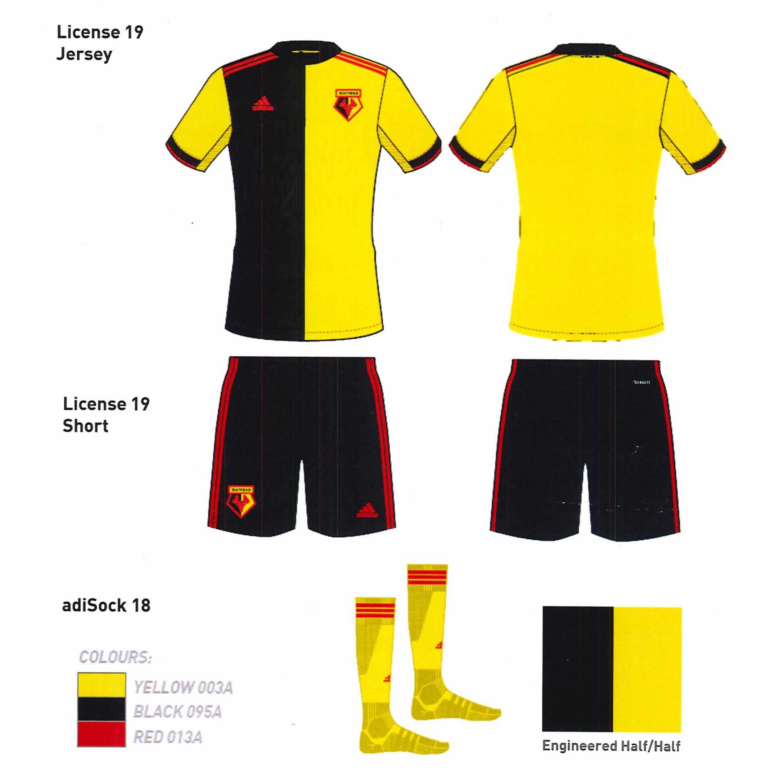 03f17c09a87 Watford 2019-20 Adidas Home Kit Design | The Kitman