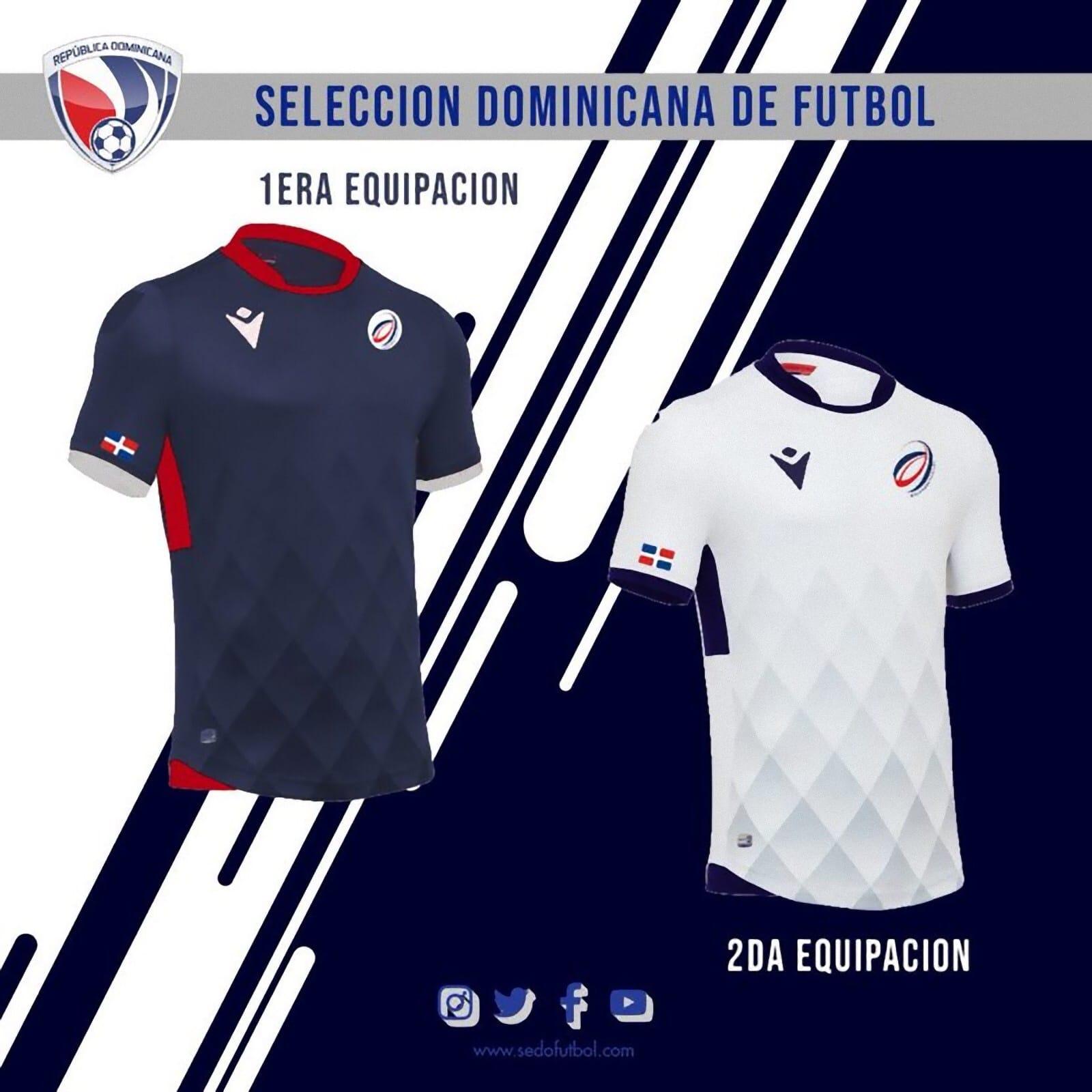ba5af8788 Dominican Republic 2019-20 Macron Kits