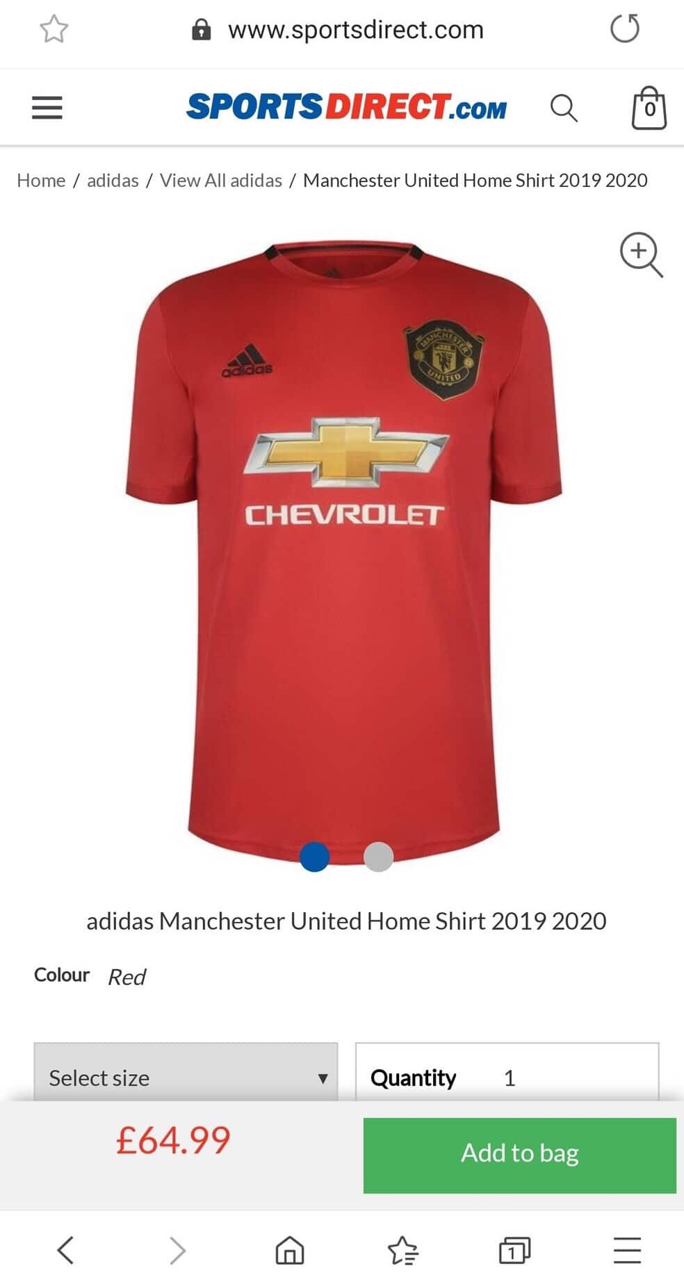 bde72ade Manchester United 2019-20 Home Kit Leaked By Sports Direct | The Kitman
