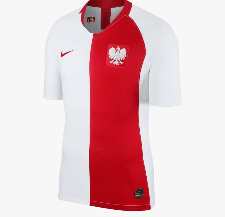 separation shoes 6ad3a bbb91 Poland 100th Anniversary Shirt Made By Nike | The Kitman