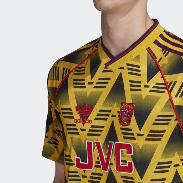 Arsenal 1991-93 Bruised Banana Away Shirt Made By Adidas
