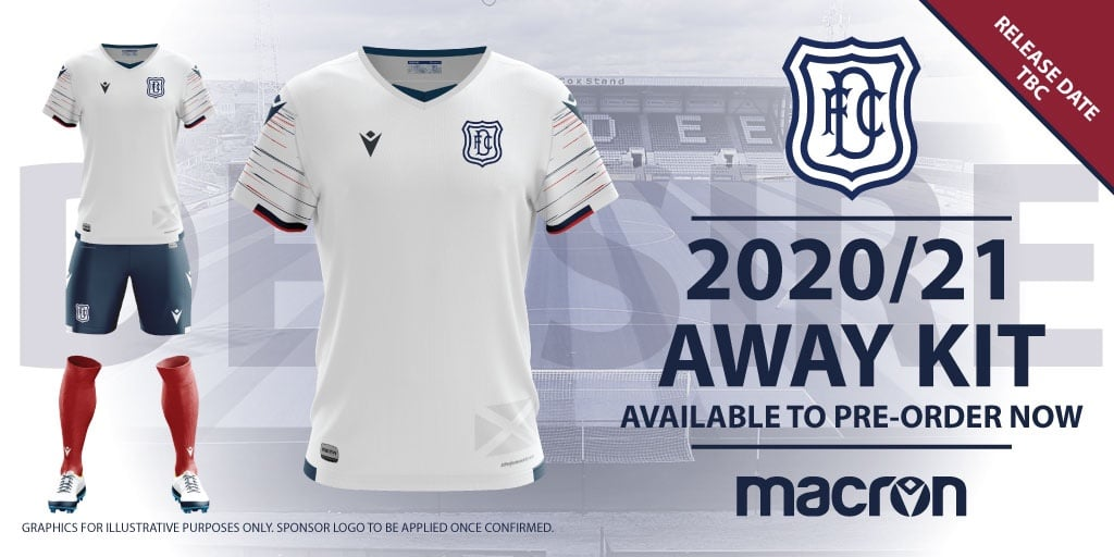 Dundee Fc 2020 21 Macron Away Kit Revealed The Kitman